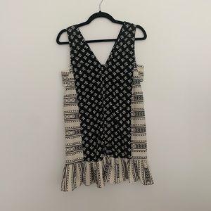 ASOS DESIGN Mixed Print Mini Dress with Side Tab